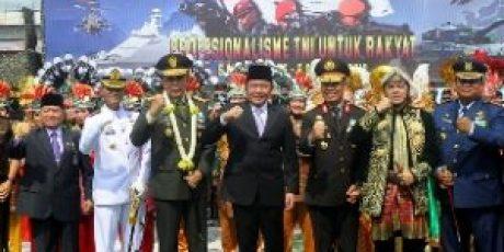 Herman Deru Doakan TNI Makin Maju dan Jaya