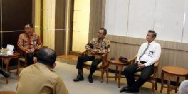 Gubernur menerima Kunjungan Pimpinan PT BNI Wilayah Sumsel