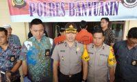 Mapolres Banyuasin menggelar Press Release Kasus pasal 338