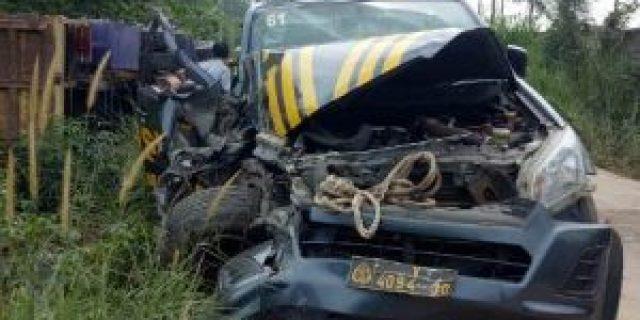 Mobil Patroli V4094-30 Tabrakan Dengan Dump Truk