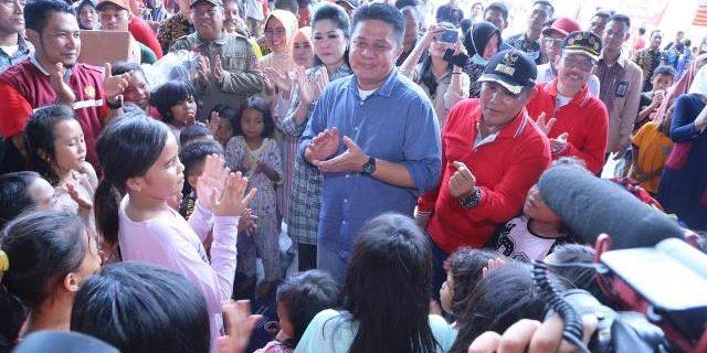 Gubernur Sumsel Tinjau Posko Pengungsian Tsunami Lamsel