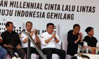 Gubernur  Dampingi Presiden Buka South Sumatera Millennial Road Safety Festival