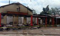 Bangunan Satreskrim Polres OI Nyaris Terbakar