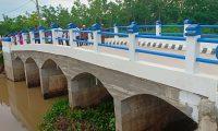 Warga Lempuing Jaya Bersyukur Miliki Jembatan Baru