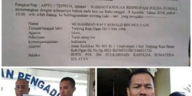 Kapolda Sumsel Dilaporkan ke Propam