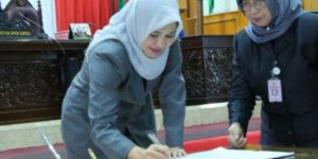 Sekda Hadiri Penetapan Plt Ketua DPRD