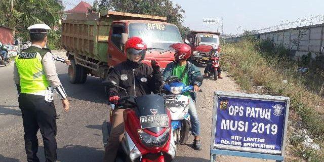 Disimpang Tegal Binangun, Operasi Patuh Musi 2019 Digelar