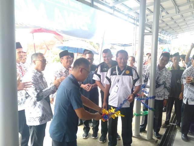 Bengkel Bina Motor Milik SMK PGRI Tanjung Raja Diresmikan