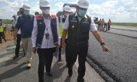 Gubernur Tinjau Pembangunan Tol Indralaya Prabumulih