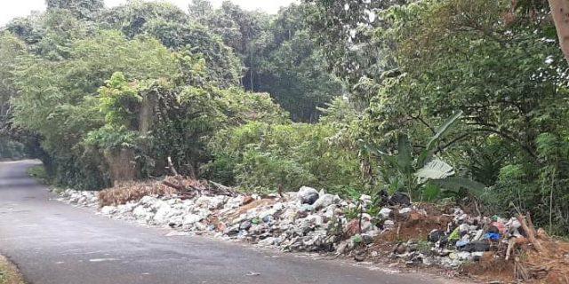 Sampah Menumpuk di Ruas Jalan kelurahan Payaraman Barat