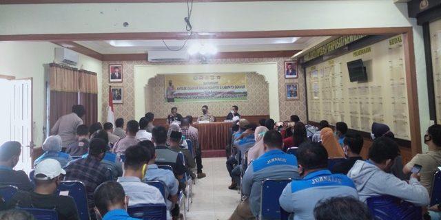 Kapolres Menerima Silaturahmi PWI dan IWO